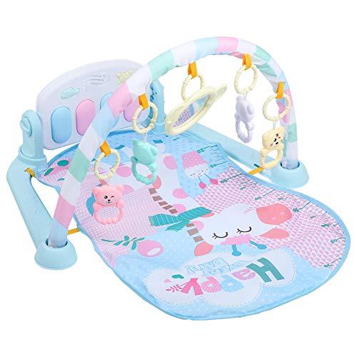 Manta de actividad para bebé, manta de actividades de Rainforest con arco de juegos y piano, manta con sonajeros, portátil, juguete para bebés de 0 a 18 meses