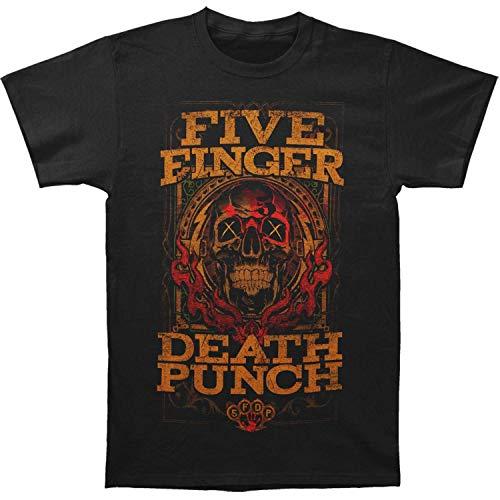 Five Finger Death Punch Wanted Camiseta, Negro (Black Black), Medium para Hombre