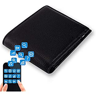 XBERSTAR Cowhide Leather Rechargeable Anti Lost Bluetooth Smart Wallet Pouch Two Way Anti Theft Purse Cards Holder