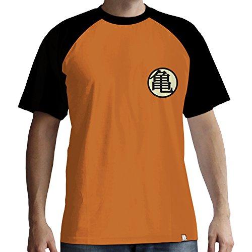 ABYstyle - Dragon Ball - Camiseta - Kame Symbol - Hombre - Naranja (L)