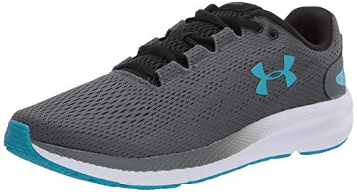 Under Armour UA Charged Pursuit 2, Calzado De Hombre, Zapatillas para Correr, Gris (Pitch Gray/White/Escape (100) 100), 42 EU