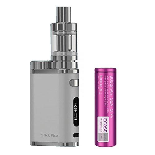 Eleaf Istick Pico (Argento) Kit 75W Pacchetto con batteria 1X EFEST 18650 3000mAh E-Sigarette Senza Nicotina