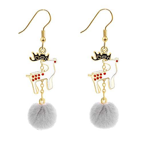 E-House Levert mooie kerstrendieren bommel bal lange hangers haak oorbellen vrouwen 1# 1#