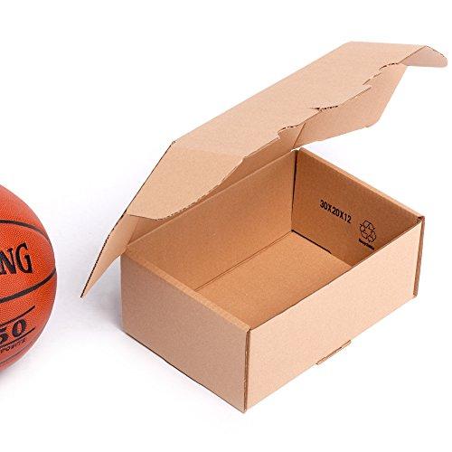 (25x) Caja de cartón TeleCajas automontable envíos postales TCPOBOX- Varios tamaños (B (30x20x12 cms)) (LOTE DE 25 UNIDADES)