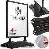 KESSER® Kundenstopper A1 ✓ Plakatständer ✓ Werbetafel ✓ Gehwegaufsteller   Standfuß   ✓...