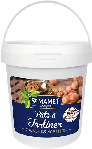 St MAMET les Vergers Pâte à Tartiner aux Noisettes 1 kg, 1 Unité