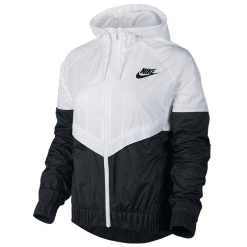 Nike Damen Windrunner Jacke, Weiß/Schwarz, M
