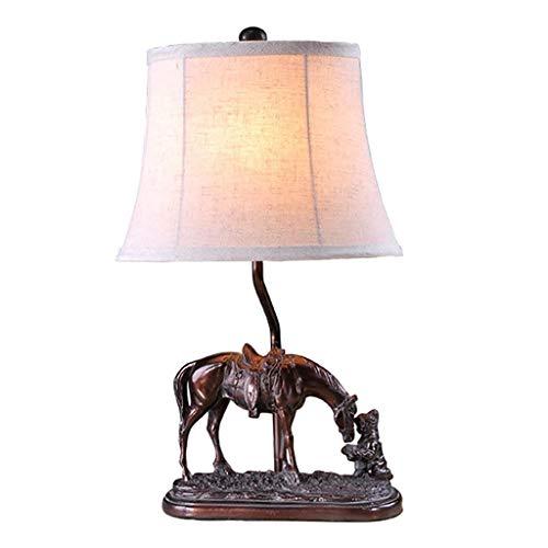 Allamp Norte de Europa Inicio Creative E27 Caballo lámpara de Mesa de Noche Dormitorio Resina Sala de Estar iluminación de la decoración Luz