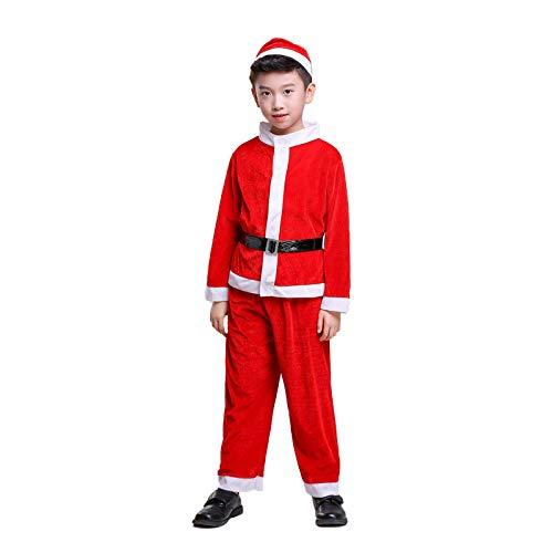 XFDYJ Disfraces para niños Traje Infantil Navideño con Capucha Adecuado para Actuaciones Festivas,B150