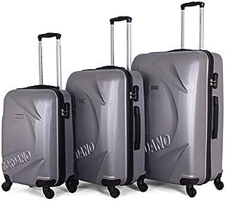 جيوردانو طقم حقائب سفر بعجلات, 3 قطع مع 4 عجلات, فضي - 170682