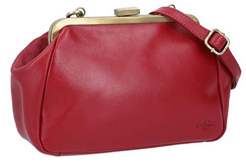 Gusti Handtasche Ledertasche Abendtasche Vintage Rot Leder