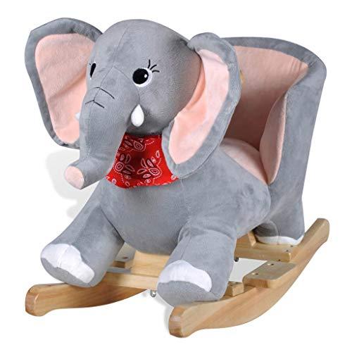 vidaXL Schaukeltier Schaukelpferd Elefantschaukel Tier Schaukelelefant Spielzeug