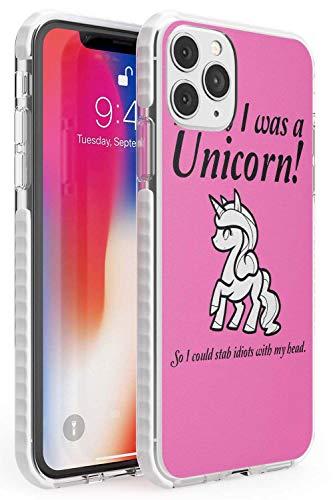 Case Warehouse Ich wünschte, ich war EIN Einhorn Max Impact Hülle kompatibel mit iPhone 11 Pro Max TPU Schutz Light Phone Tasche mit Niedlich Komisch 9Gag Rosa