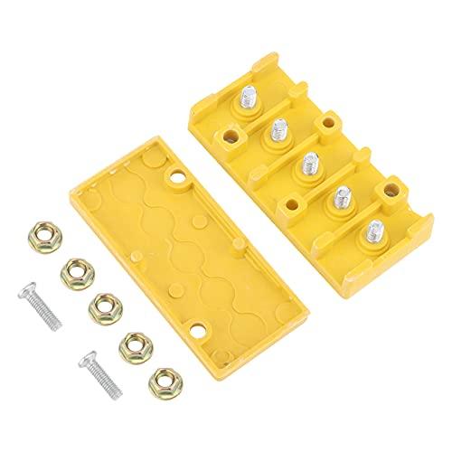 Caja de conexiones, caja de conexiones eléctricas con aislamiento fenólico con 5 tuercas para conexión de bicicletas para proyectos eléctricos