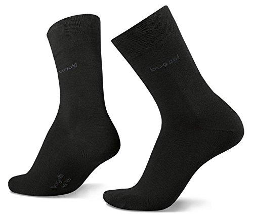 bugatti 9 Paar Unisex Business Socken Größe: 43-46 Farbe: Schwarz