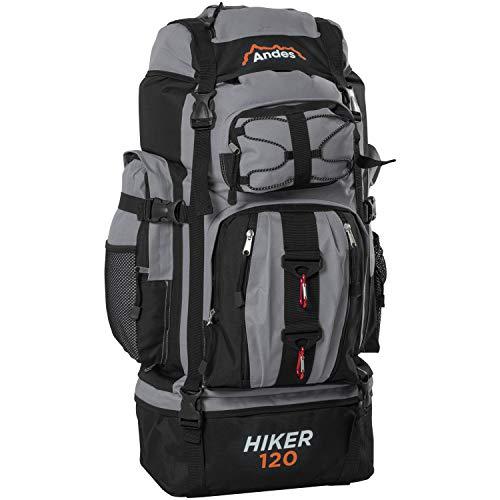 Adtrek Grey 120L Hiker Backpack Extra Large Hiking/Camping Luggage Rucksack