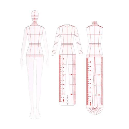 WYGC Plantilla de Moda Regla Mujer Curva Francesa Dinámica Humana Regla de Costura Regla de Patchwork Hecha a Mano DIY Artesanía de Medición de Ropa Herramientas de Coser Reglas de Costura (Size : L)
