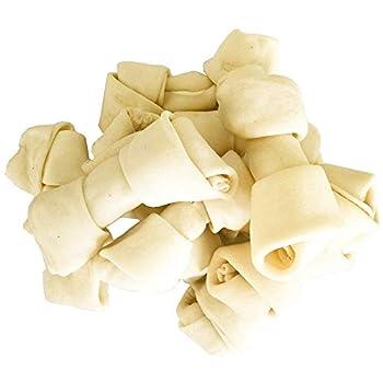PET MAGASIN Os de Peau de Boeuf pour Chiens (10 pièces), sans arômes artificiels, friandise pour Les Grands Chiens à Haute teneur en protéines et à Faible teneur en matière grasse, 15-18 cm