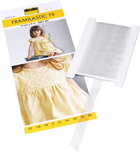 Vlieseline Framilastic, 100{0cb4f858afb9b3f347b644fd5c92063be271f680603406bc3d4e01d9eb4bea75} PU, transparent, 9 mm x 5 m