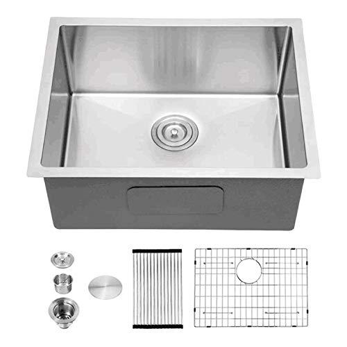 Bar Sink Undermount - Sarlai 14'x18' Undermount Single Bowl Stainless Steel Bar Prep Sink Small Kitchen Sink