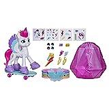 My Little Pony: A New Generation - Zipp StormAventura de Cristal - Poni Blanca de 7,5 cm con Accesorios Sorpresa, Pulsera de la Amistad