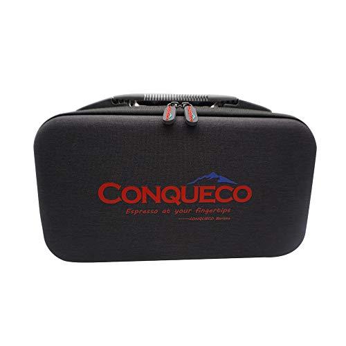 CONQUECO Sac souple portable de voyage pour machine à café (noir)