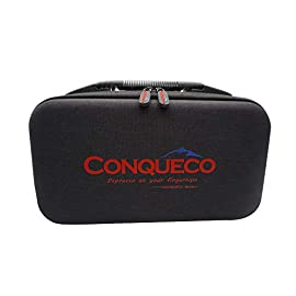 CONQUECO Portable Espresso Maker Travel Coffee Machine, Heating Water and Automatic Cleaning Function, Compatible with… 1 QUALITY CONSTRUCTION. Expertly crafted using polyester and PVC materials combined with a rugged padded interior, the CONQUECO Travel Pouch protects your CONQUECO Coffee Maker (sold separately) from damage when you're traveling. PROTECT COFFEE MAKER ON THE GO. When you're traveling and staying in a hotel, you might not have access to a coffee maker and if one is provided, you may question its cleanliness. With this Travel Pouch, you can conveniently carry your coffee maker with you when traveling so you can always enjoy that cup of joe. SUFFICIENT STORAGE. 2 compartment space keeps coffee maker and capsules tidy, while mesh compartments offer additional storage space for other essentials. With the addition of the CONQUECO Case be ready for your next big adventure.