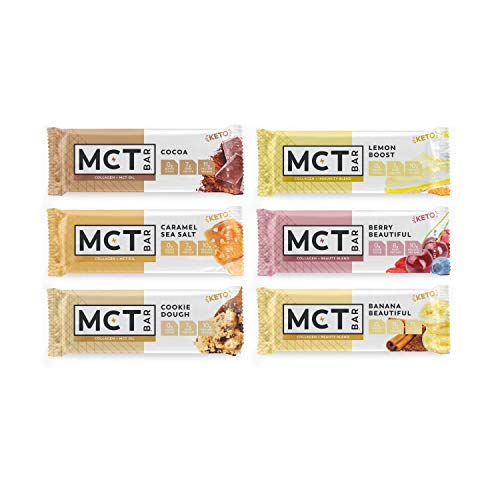 MCTBar Keto Protein Bars, All Flavor Variety Pack (12 Pack) - Made With Organic MCT Oil, Collagen & Monk Fruit | Keto Friendly | 3g Net Carbs | Free of Gluten, Dairy, Soy & GMOs