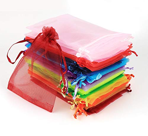 ABSOFINE 120pcs Bolsas Bolsitas de Organza 10x15cm Bolsas de Regalo Boda para Joyas Caramelo Dulces Recuerdo Favores Detalles
