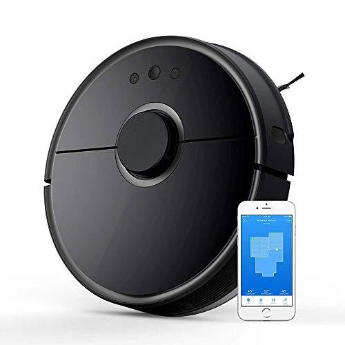 CHENJIA Aspiradora Robot y la fregona, Inteligente Navegación robótica Aspirador con 2000Pa succión Fuerte y Wi-Fi Conectividad Pelo del Animal doméstico, alfombras y Todo Tipo de Suelos