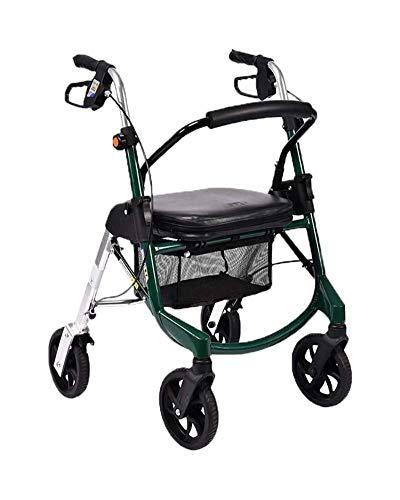 GJX Rollator Trolley Creative-Light- Old Man Einkaufswagen, Bewegliche Warenkorb Faltbare Walker Four Wheel