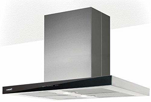 Cata Isla Legend 900 Plasma Insel-Dunstabzugshaube Block-Abzughaube 90 cm 5 Stufen Turbostufe ECO LED Touch