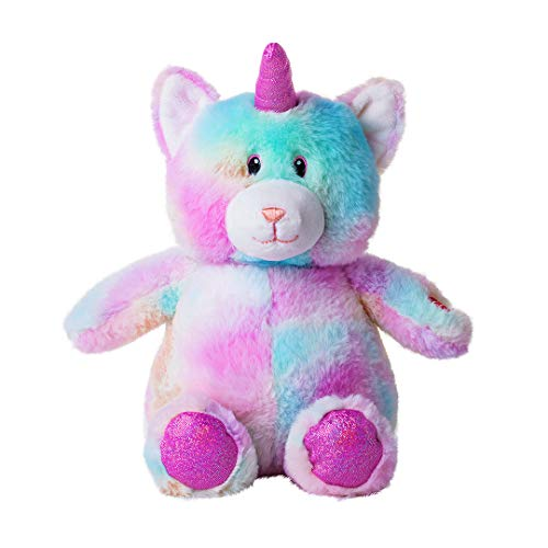 Dazmers Light up Soft Plush Caticorn Toy - LED Stuffed Animals with Colorful Night Lights - Glowing Stuffed Animals for Kids to Sleep