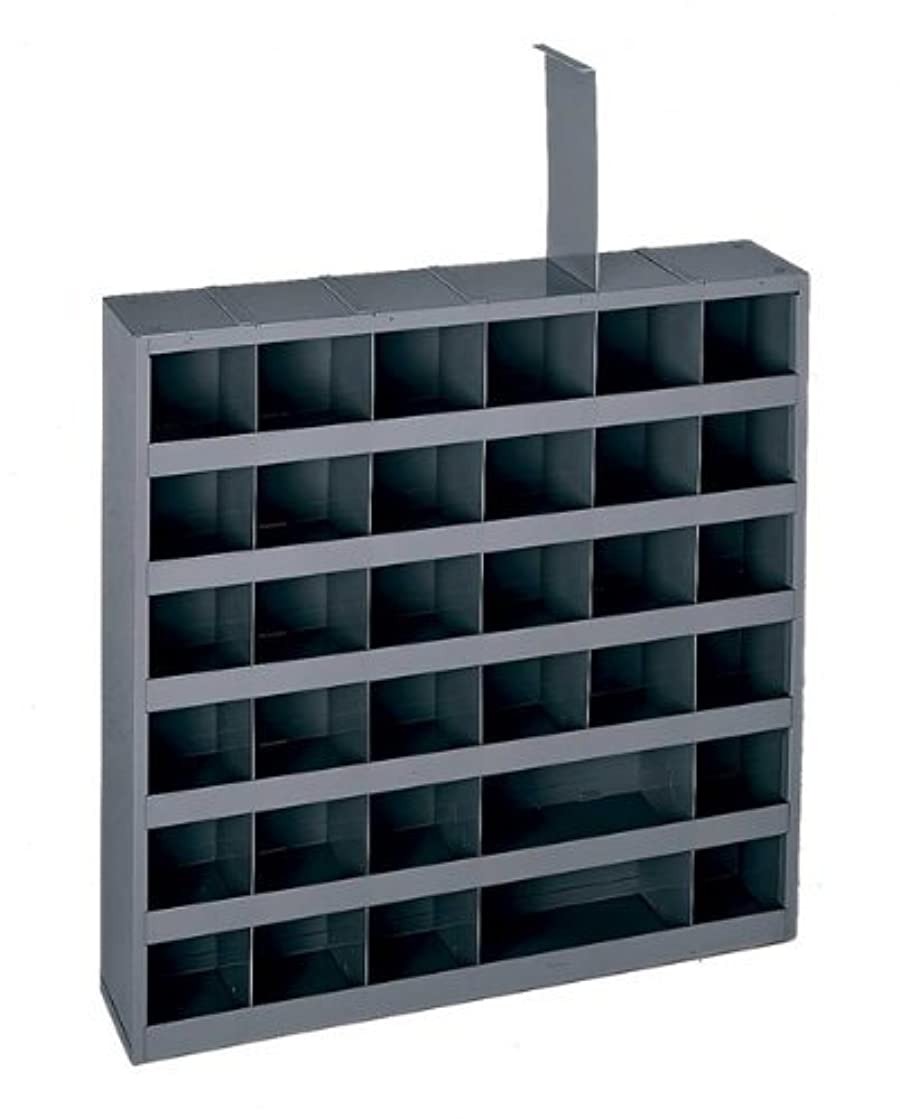 Durham 314-95 Gray Cold Rolled Steel 36 Opening Adjustable Parts Bin, 23-3/4 Width x 4-3/4 Depth x 23-3/4 Height by Durham