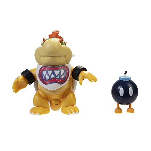 "World of Nintendo 4"" Bowser Jr. with Bib Action Figure"