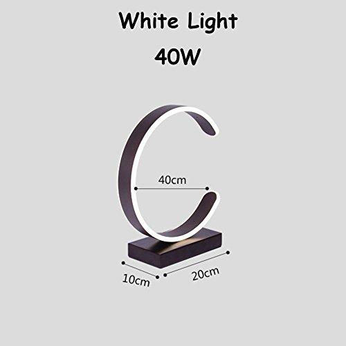 Lampe de Chevet Moderne Minimaliste de LED,Lampe de Table de Style Nordique Creative Circular Design-M