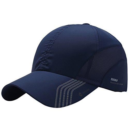 Reefa - Gorra de béisbol Ligera y de Secado rápido para Verano, al Aire Libre, con Malla de ventilación, Color Azul Oscuro, tamaño Talla única