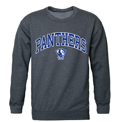 W Republic EIU Eastern Illinois University Campus Crewneck Pullover Sweatshirt Sweater Heather Charcoal Large