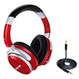 PTron Rodeo Over The Ear Stereo Wireless Bluetooth Headphones with Mic - (Red)