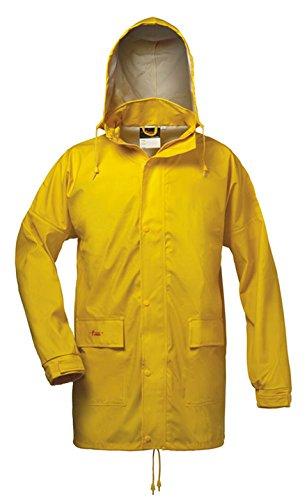 Norway PU Regen-Jacke mit Kapuze - gelb - Größe: XXL