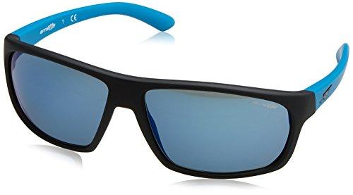 Arnette 0AN4225 237825 64 gafas de sol, Negro (Fuzzy Black/Greenmirrorlightbluee), Unisex-Adulto