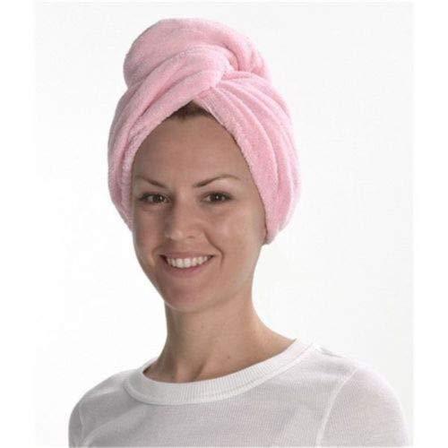 MAWA Toalla de baño de Microfibra Secado rápido Secado rápido Toalla de baño para Dama Ducha Suave para Mujer Hombre Turbante Abrigo para la Cabeza Herramientas de baño - Rosa