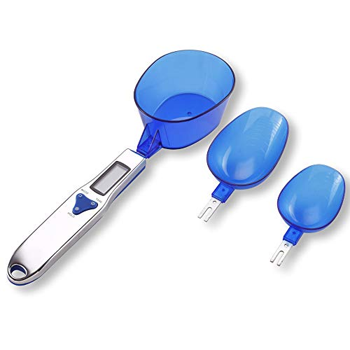 WANGXB Cuchara Digital LCD electrónica,Smart Báscula Digital para Cocina,Pantalla LED,Alta Medida sensores de precisión,Cuerpo de balanza de Acero Inoxidable.