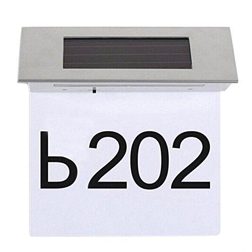 Baoblaze Número de Dirección Placa de Puerta de Acero Inoxidable Luces de Puerta