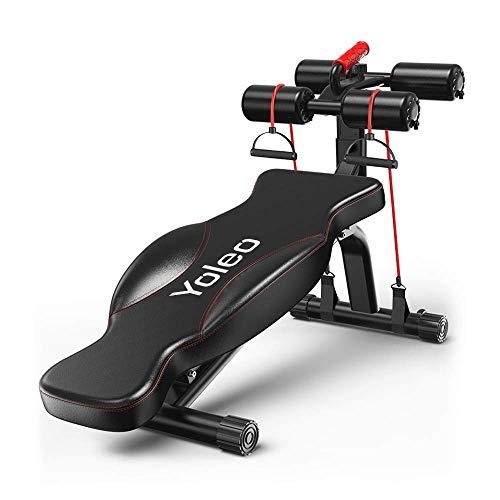 YOLEO Banc de Musculation Abdominal Pliable Multifonction Sit-up Fitness Musculation Bras Gym Domicile Bureau