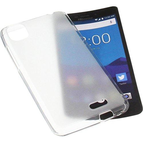 foto-kontor Funda para Hisense T5 Protectora de Goma TPU para móvil Transparente Blanca