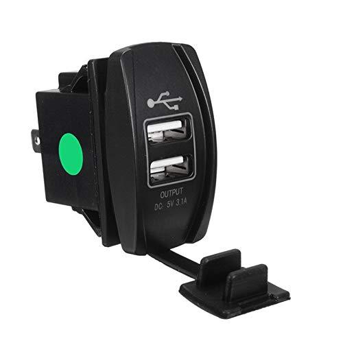 Cargador de teléfono automático para automóviles Barco de motocicleta 12-24V DUAL USB Cargador de coche Cambio de basculante interruptor de rocker 5V 3.1A interruptor del coche