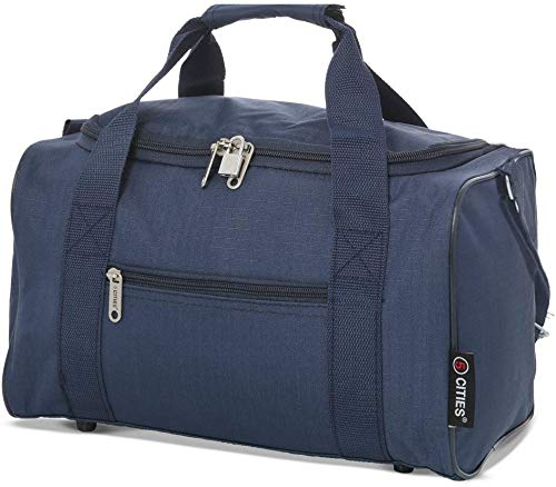 5 Cities 40x20x25 Ryanair Maximum Sized 2020 Under Seat Cabin Holdall Travel Flight Bag – Take The Max on Board! (Navy)