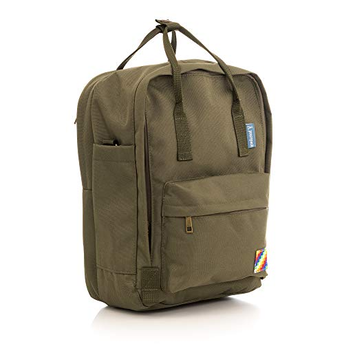 Peacepack Original Compact Size Backpack with Padded Laptop Pocket (Woods Khaki)