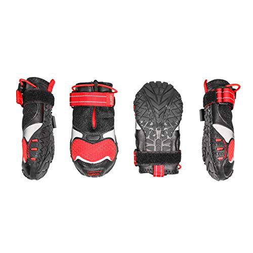 Kurgo K81007 Querfeldein Schuhe für Hunde , wasserabweisende Hundeschuhe, Pfotenschutz für das ganze Jahr, mittlere und große Hunde, 454 g